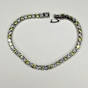 NWOT Citrine and white sapphire tennis bracelet